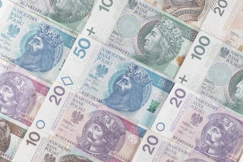 polskie banknoty - pożyczka udzielona na raty